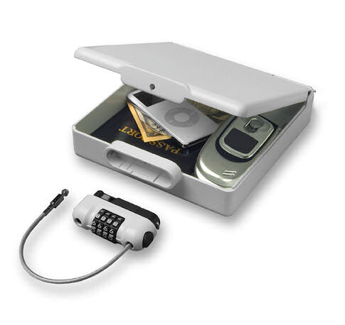 Travel safe lock box portable security device keeps ipod valuables