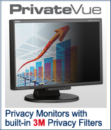 PrivateVue Privacy Monitors with Built-in Privacy Filter